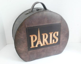 Paris Travel Hand Carry Leather Case