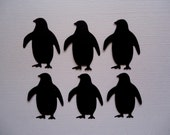 6 Chubby Penguin Die Cut Embellishments for Scrapbooking Cards and Paper Crafts Animal Zoo Artic