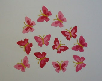12 Butterfly Die Cuts for Scrapbooking and Paper Crafts Embellishment Choose Pink, Neon or Purple Insects Butterflies Summer