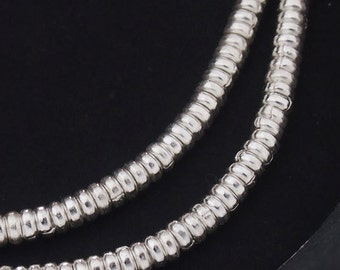 100 of Karen Hill Tribe Silver Little Ring Beads 2.8x1.2 mm. :ka3806