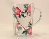 Pink Flower and Frosted Heart Coffee Mug