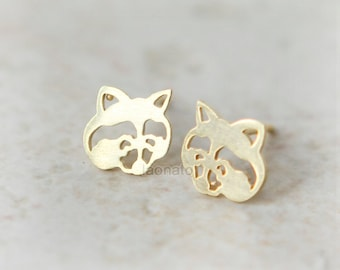 Raccoon earrings / choose your color, gold and silver