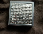 Vintage SILVER MESH Metal Pillbox   1950's
