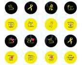 Childhood cancer awareness circles- 1.313 inch circles-Circles for 1 inch button maker-Digital Collage Sheet-Buttons-  Buy 3 get 1 FREE