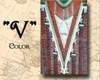 Letter V Alphabet Photography Color 4 x 6 Photo Letter Unframed