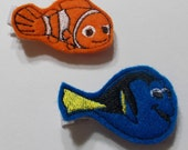 CHOOSE ONE Finding Nemo Felt Embroidered Hair Clip/ Toddler Clip