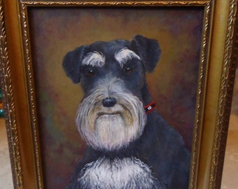 Custom Dog Art Custom Dog Painting 8x10 Dog wall art Dog decor from your photos