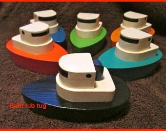 Bath tub tug boat