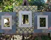 Hello Sunshine, Grouping of Three 4x6 Distressed Picture Frames