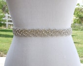 Bridal Sash Belt Wedding Dress Sash Belt Rhinestone Wedding Sash Belt Rhinestone Sash Belt Ivory Ribbon SA011LX