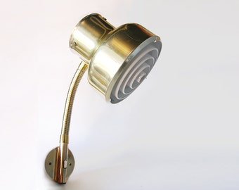 Vintage Swedish Gold Tone Bumling Wall Lamp - 1970s