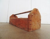 Primitive  Wooden Tool Caddy