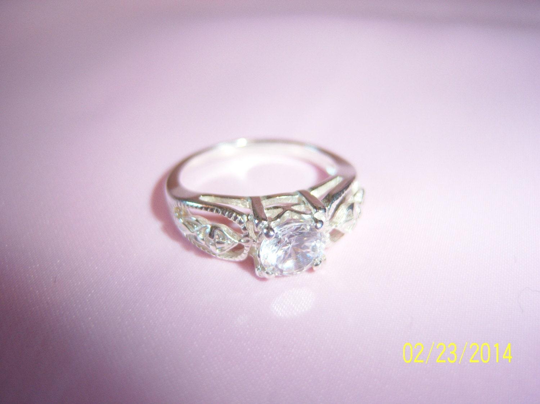 vintage sterling silver avon cz ring