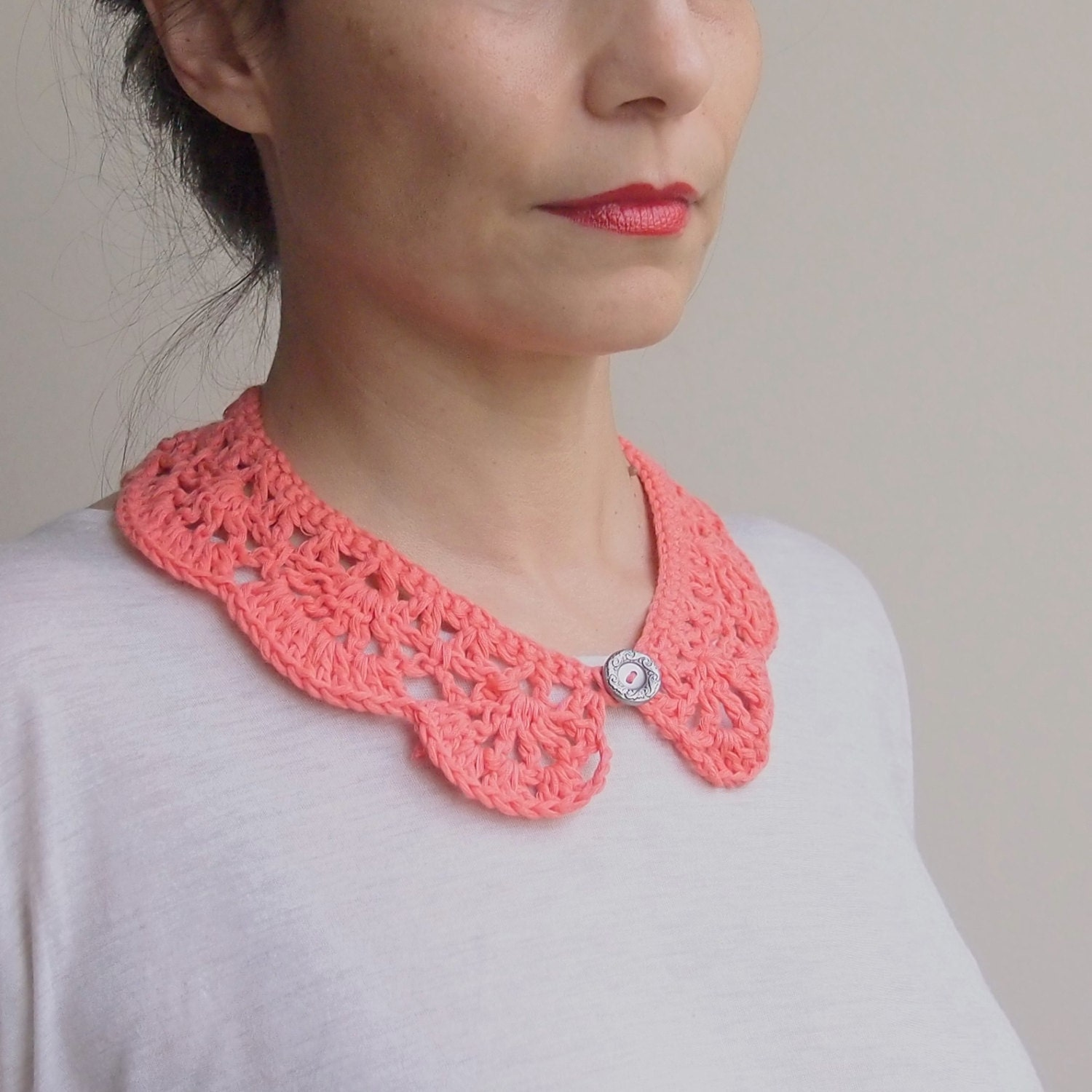 Crochet pattern woman collar peter pan girl collar crochet cowl this is a digital file bankloansurffo Image collections