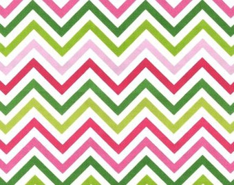 Chevron Fabric -Robert Kaufman Cotton Fabric- Garden Chevron- 1/2 YARD (18 X 44 INCHES)