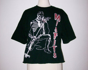 1970s / 1980s Misfits T Shirt Vintage 70s / 80s Concert Tshirt - L