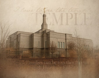 Snowflake, Arizona LDS Temple Print 16x20