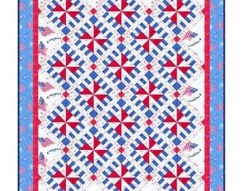 Quilt Pattern - State Fair - Quilts of Valor size - Patriotic Quilt Pattern - PDF INSTANT DOWNLOAD