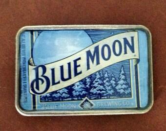 Blue Moon Beer Label Belt Buckle
