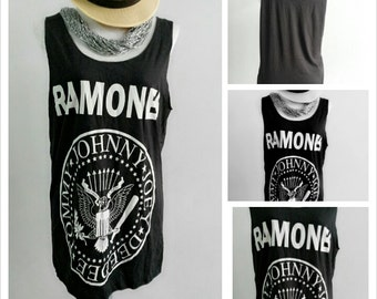 Black Ramones  Lady Singlet Tank Top T-Shirt Mini Dress