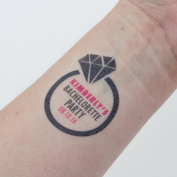 Bachelorette temporary tattoos diamond by kristenmcgillivray for Bachelorette party tattoos