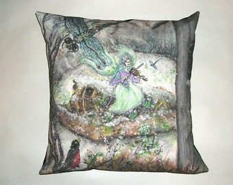 Children's Fairy Tale Pillow Cover - The Swamp Fairy