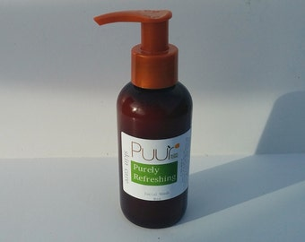 Purely Refreshing Skin Care  - Natural Facial Wash - Unscented Facial Cleanser - Peppermint Hydrosol - Refreshing, Oily Skin
