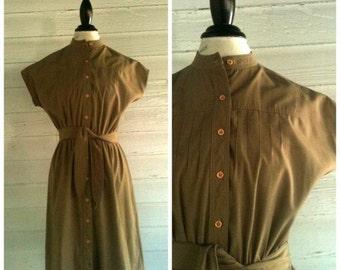 Vintage Dress - 1970s TOFFEE Darling Dress