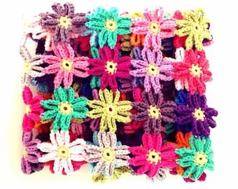 Crochet Flower Baby Blanket Pattern - Instant Download