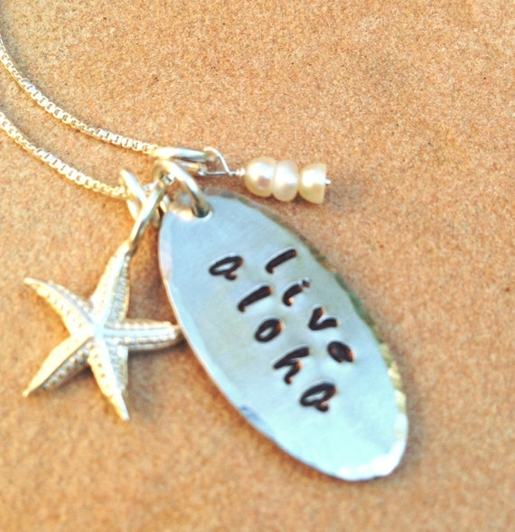 Wedding Gifts From Hawaii: Live Aloha Necklace Hawaiian Necklace Aloha Necklace Aloha