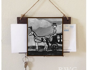 The Funeral Carriage Mail Holder and Key Rack Home Decor