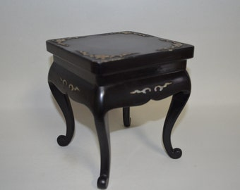 Lacquer Table 4038, Mother Of Pearl Inlay,