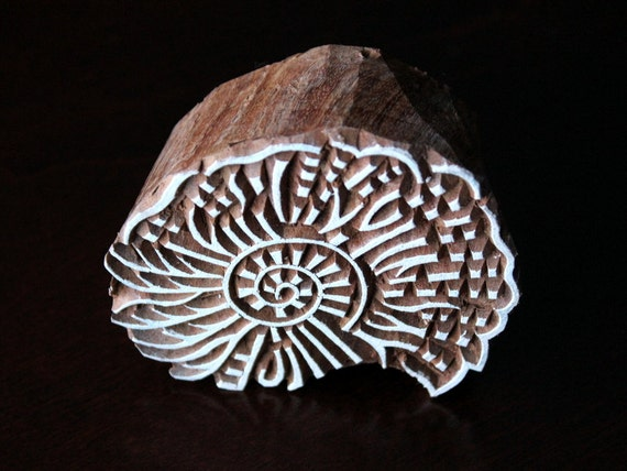 Indian wood textile stamp block tjaps