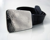 Trilobite Belt Buckle - Etched Stainless Steel - Handmade