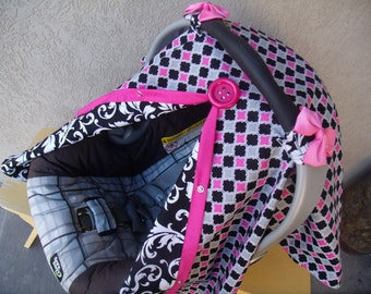 Car seat Cover Argyle Scroll REVERSIBLE