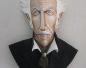 One of a Kind Vincent Price Mixed Media Palm Frond Wall Art