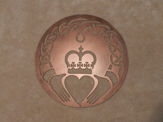 Claddagh Celtic Knot Metal Wall Art By Sunsetmetalworks On