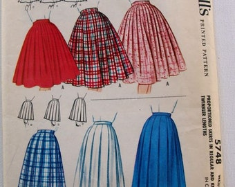 Vintage 1960 McCalls  Skirt pattern 5748, unused