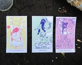 Mini Tarot Card Stickers