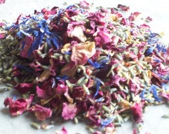 Hand mixed real petal confetti - cornflower mix - 1.5Kg (3lb)