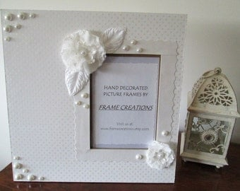 5x7 Wedding Themed - Hand Decorated Picture Frame