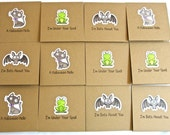 Halloween Mini Cards, 3x3 cards, treat bag cards, Halloween set of 12