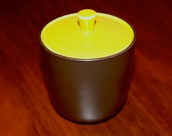 Vintage Mikasa Terra Stone Saffron Sugar Bowl 1960s Midcentury Modern