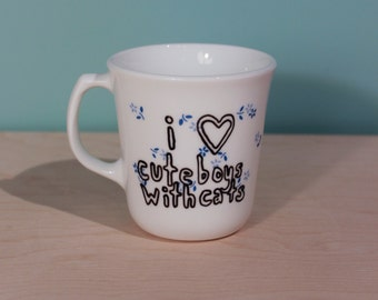 CBWC floral upcycled coffee mug