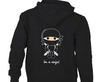 I'm a Ninja Youth Black Hoodie