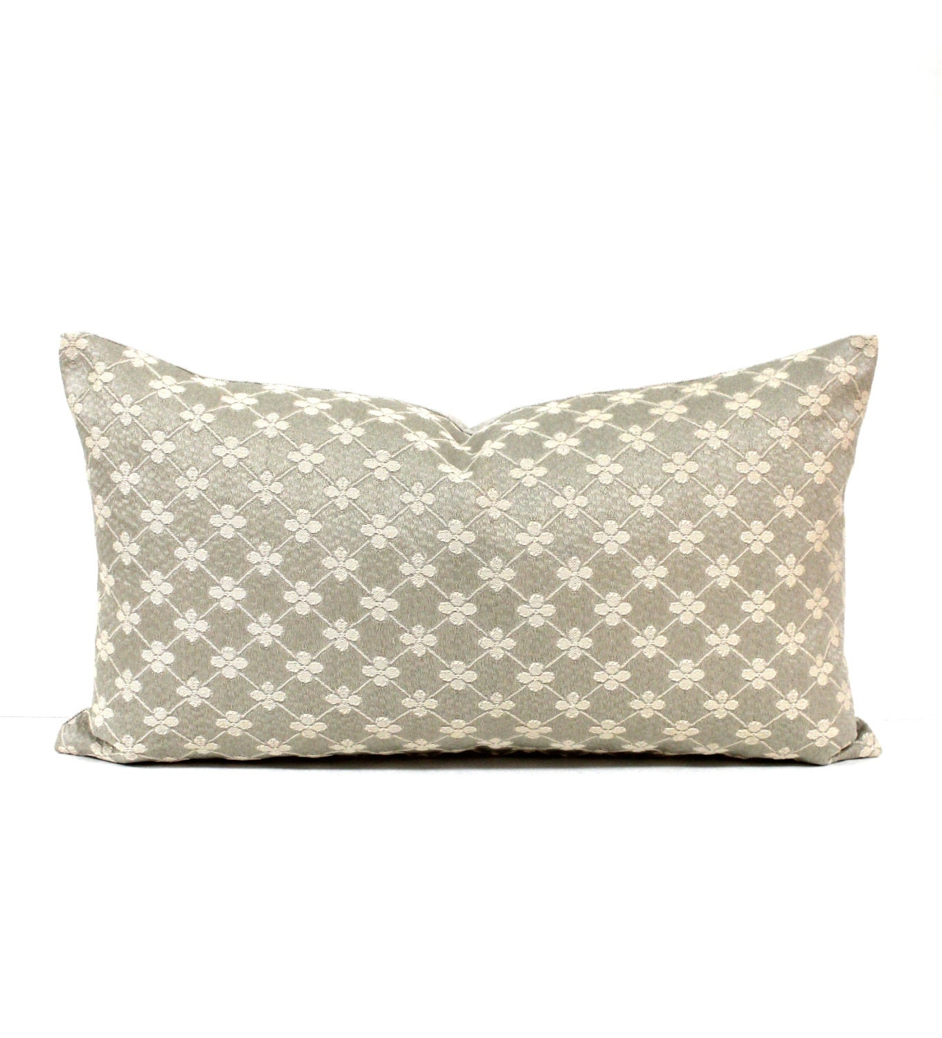 Lumbar Pillow Cover 10x20 Taupe Beige Decorative by couchdwellers