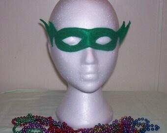 lightening child's felt mask with reinforced elastic band