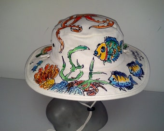 Octopus Reef Canvas Outback Hat for Men and Women