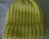 Newborn Baby Infant Hat - Yellow