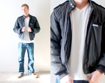 Vintage RETRO // Members only look alike jacket // black members only style coat